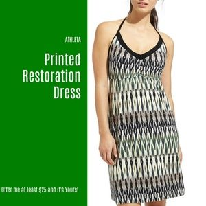 NWT Athleta Printed Restoration Dress